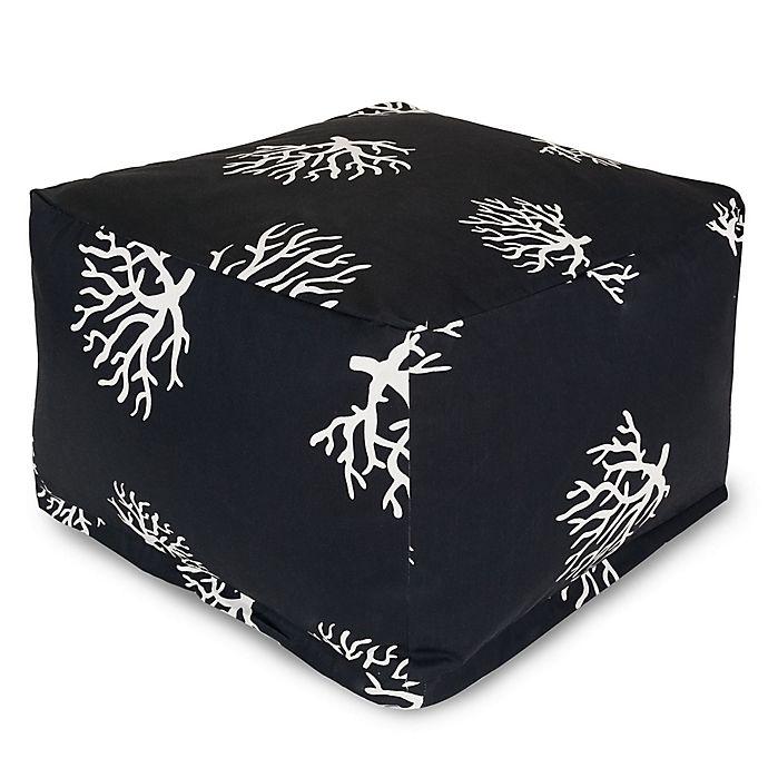 Alternate image 1 for Majestic International Kick-It Coral Bean Bag Ottoman in Black