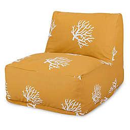 Majestic International Kick-It Coral Bean Bag Chair Lounger