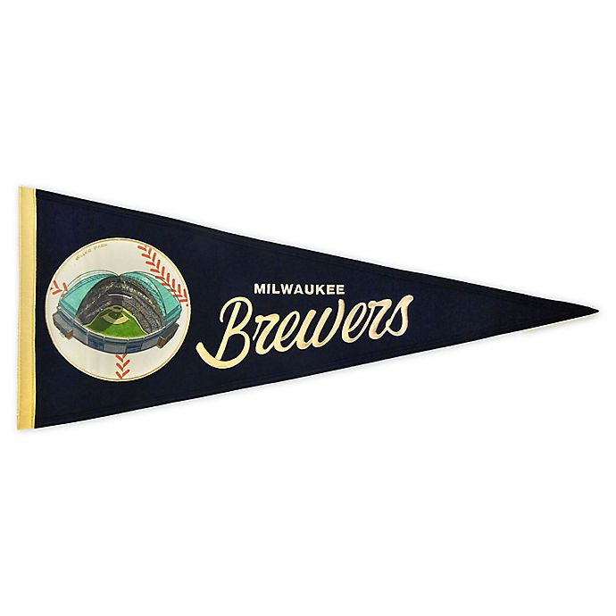 Alternate image 1 for MLB Milwaukee Brewers Vintage Ballpark Traditions Pennant