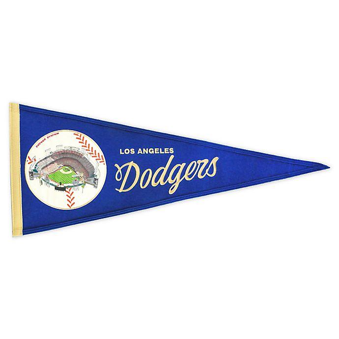 Alternate image 1 for MLB Los Angeles Dodgers Vintage Ballpark Traditions Pennant