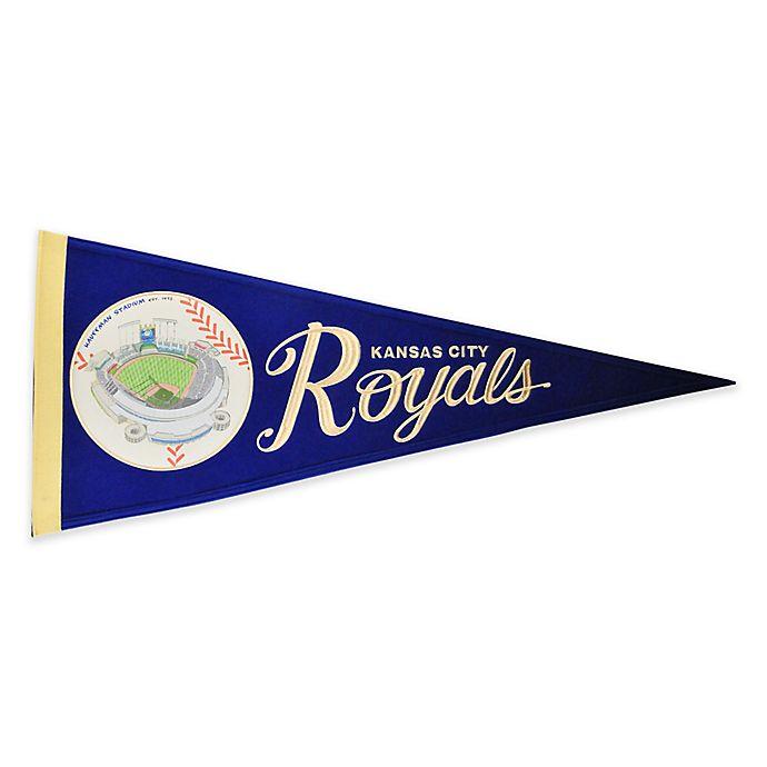 Alternate image 1 for MLB Kansas City Royals Vintage Ballpark Traditions Pennant