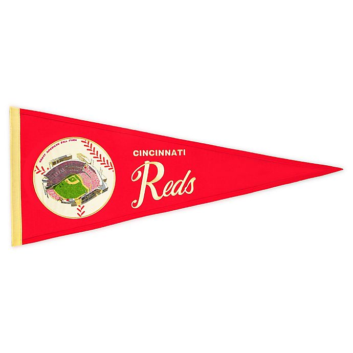 Alternate image 1 for MLB Cincinnati Reds Vintage Ballpark Traditions Pennant