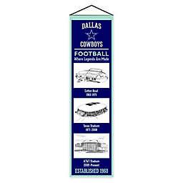 NFL Dallas Cowboys Stadium Evolution Banner