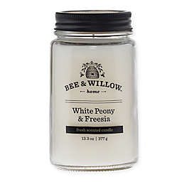 Bee & Willow™ Home White Peony & Freesia 14 oz. Jar Candle