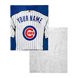 MLB Chicago Cubs Personalized Silk Touch Sherpa Throw Blanket
