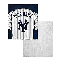 MLB New York Yankees Personalized Silk Touch Sherpa Throw Blanket