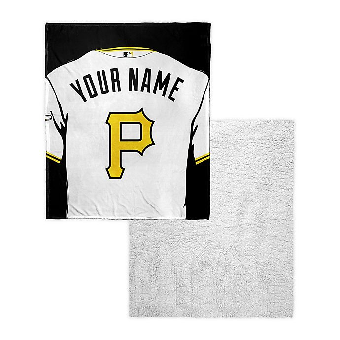 Alternate image 1 for MLB Pittsburgh Pirates Personalized Silk Touch Sherpa Throw Blanket