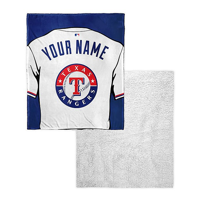 low priced e5f0f 55cbb MLB Texas Rangers Personalized Silk Touch Sherpa Throw ...