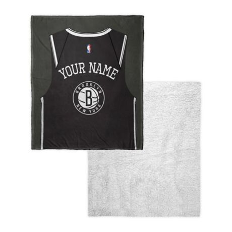 9b2156bdb8e NBA Brooklyn Nets Personalized Silk Touch Sherpa Throw Blanket
