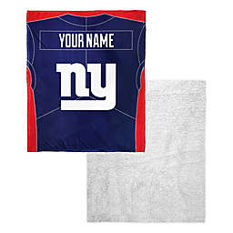 NFL New York Giants Personalized Silk Touch Sherpa Throw Blanket