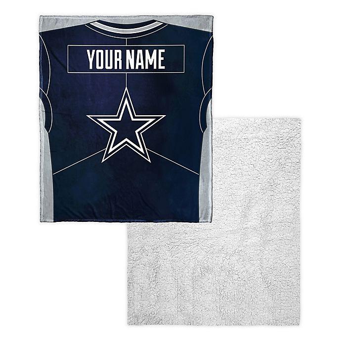901b92cb NFL Dallas Cowboys Personalized Silk Touch Sherpa Throw Blanket ...