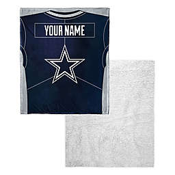NFL Dallas Cowboys Personalized Silk Touch Sherpa Throw Blanket