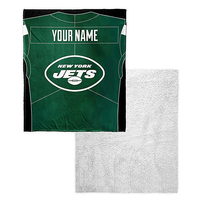 6ad99738 NFL New York Jets Personalized Silk Touch Sherpa Throw Blanket | Bed ...