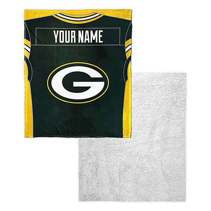 Nfl Green Bay Packers Personalized Silk Touch Sherpa Throw