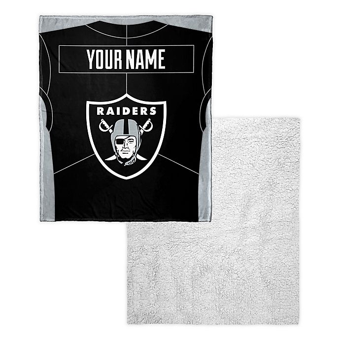NFL Oakland Raiders Super Soft Sherpa Throw Blanket