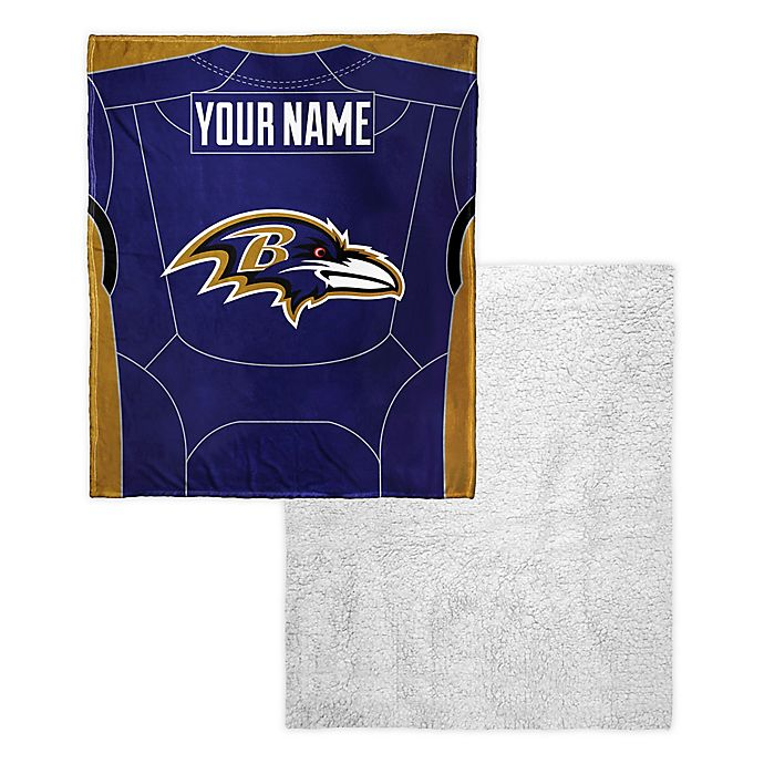 136a354c NFL Baltimore Ravens Personalized Silk Touch Sherpa Throw Blanket ...