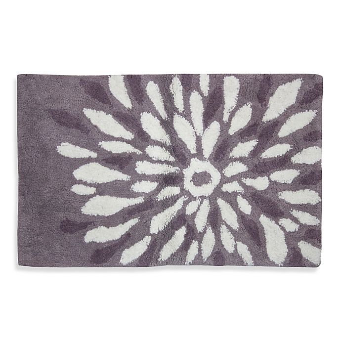 Lacey Purple Flower Bath Rug