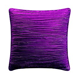 Tracy Porter® Crinkle Velvet Square Throw Pillow in Raspberry