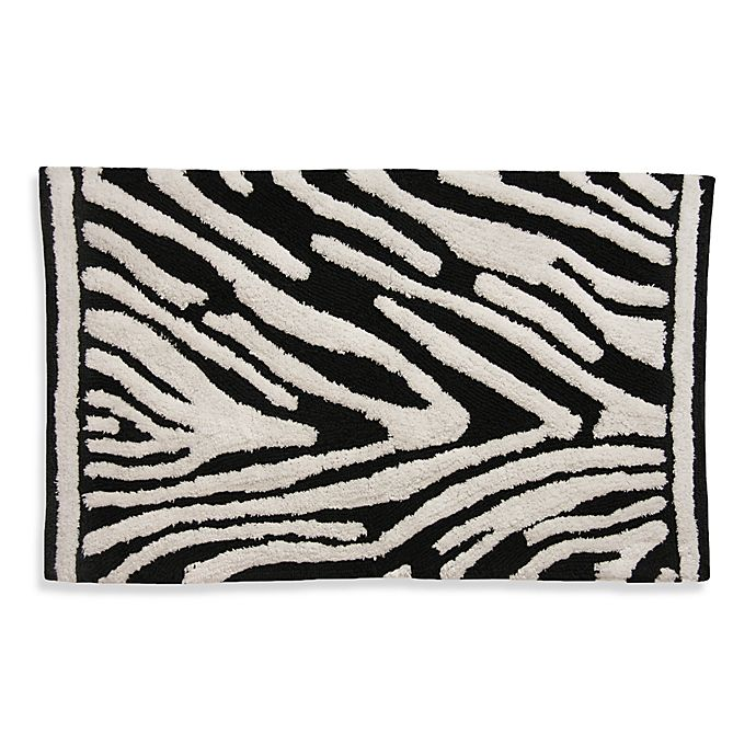 Buy Lacey Zebra Black And White Bath Rug From Bed Bath