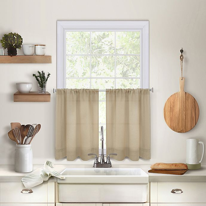 Alternate image 1 for Maison 36-Inch Kitchen Window Curtain Tiers in Linen