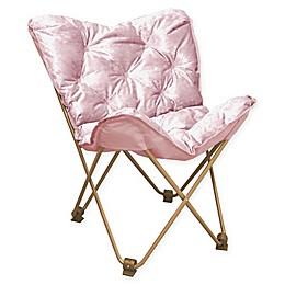 Folding Velvet Butterfly Chair