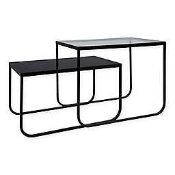 Kate and Laurel 2-Piece Colt Nesting Tables in Black