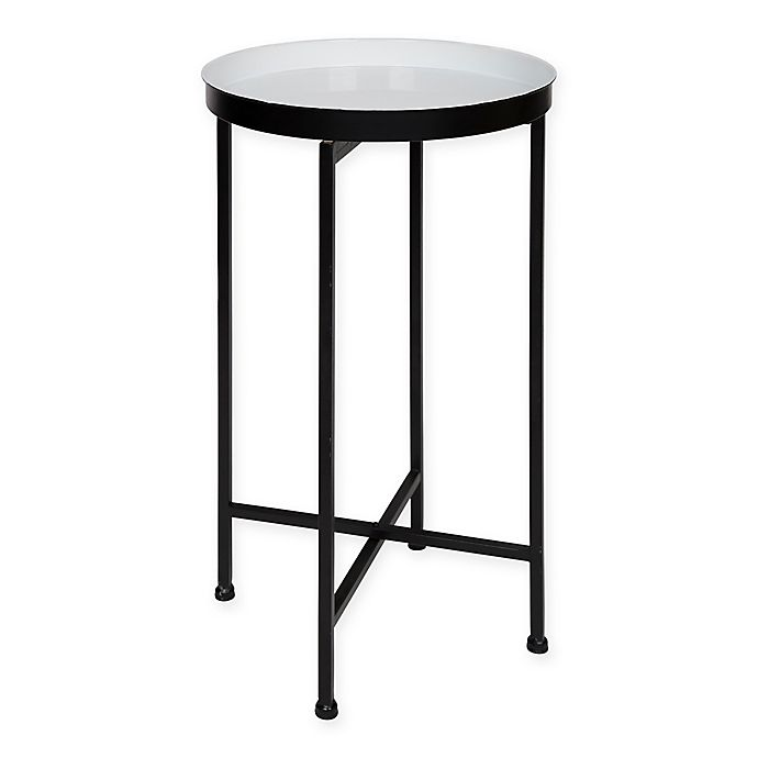 Alternate image 1 for Kate and Laurel Celia Tray Accent Table in White/Black