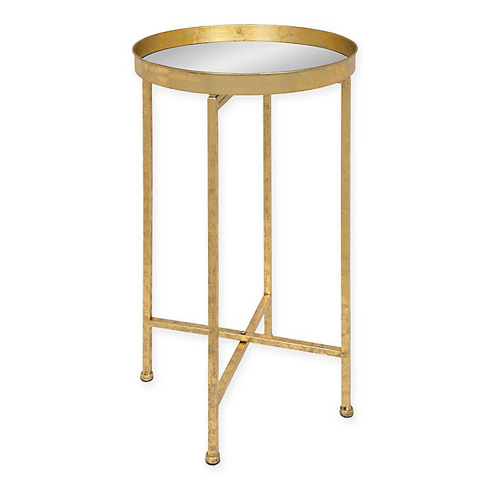 Alternate image 1 for Kate and Laurel Celia Tray Table in Mirror/Gold