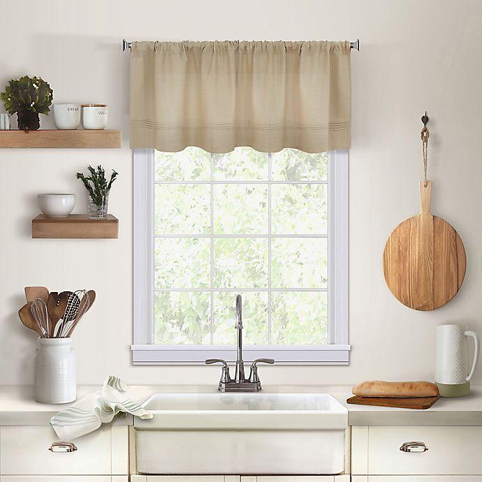 Alternate image 1 for Maison Kitchen Window Valance in Linen