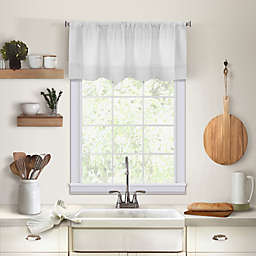 Maison Kitchen Window Valance in White