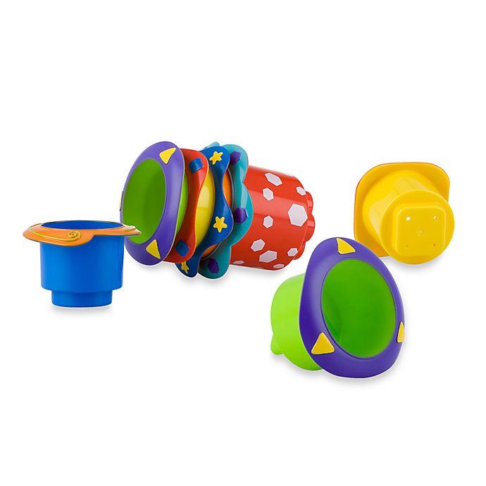 Alternate image 1 for Nuby™ 5-Pack Splish Splash Stackable Bath Cups