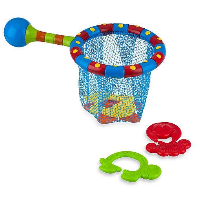 Alternate image 1 for Nuby™ Splash 'N Catch Bath Time Fishing Set