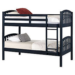 South Shore Summer Breeze Twin Wood Bunk Bed in Navy
