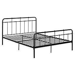 South Shore Versa Queen Metal Platform Bed in Black