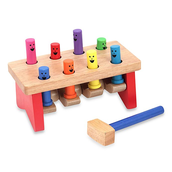 Alternate image 1 for Melissa & Doug® Deluxe Pounding Bench Toddler Toy