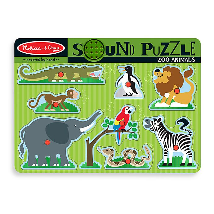 Alternate image 1 for Melissa & Doug® 9-Piece Zoo Animals Sound Puzzle