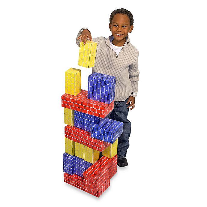 Alternate image 1 for Melissa & Doug® 24-Piece Jumbo Cardboard Blocks
