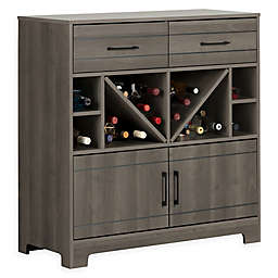 South Short Vietti 2-Door 2-Drawer Wine Cabinet and Bottle Storage