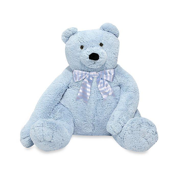 Alternate image 1 for Melissa & Doug® Blue Plush Jumbo Teddy Bear