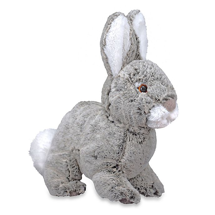 Alternate image 1 for Melissa & Doug® Grey and White Brambles Bunny Plush