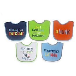 Neat Solutions® Attitude Saying  5-Pack Boys Bib Set