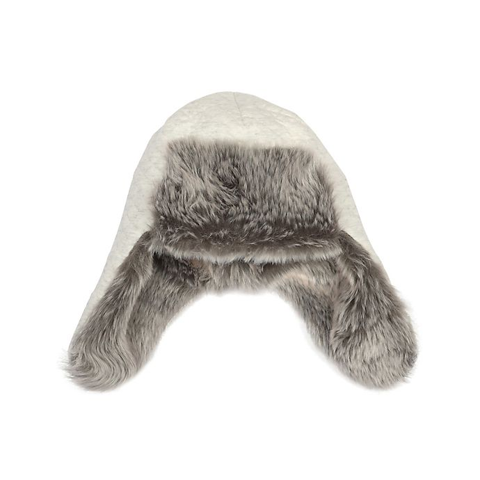 Alternate image 1 for Robeez® Quilted Baby Bomber Hat in Grey