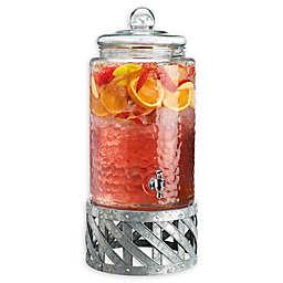 Fiddle & Fern 3-Gallon Hammered Glass Beverage Dispenser