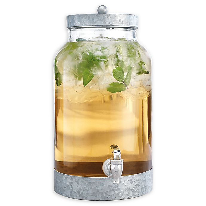 Alternate image 1 for Glass and Galvanized 1.5 Gallon Beverage Dispenser