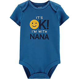 Carter's® OK with Nana Short Sleeve Bodysuit in Blue