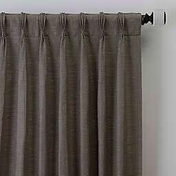 Maxwell 84-Inch Pinch Pleat Window Curtain Panel in Bronze/Gold