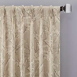 Catkin Pinch Pleat Window Curtain Panel (Single)