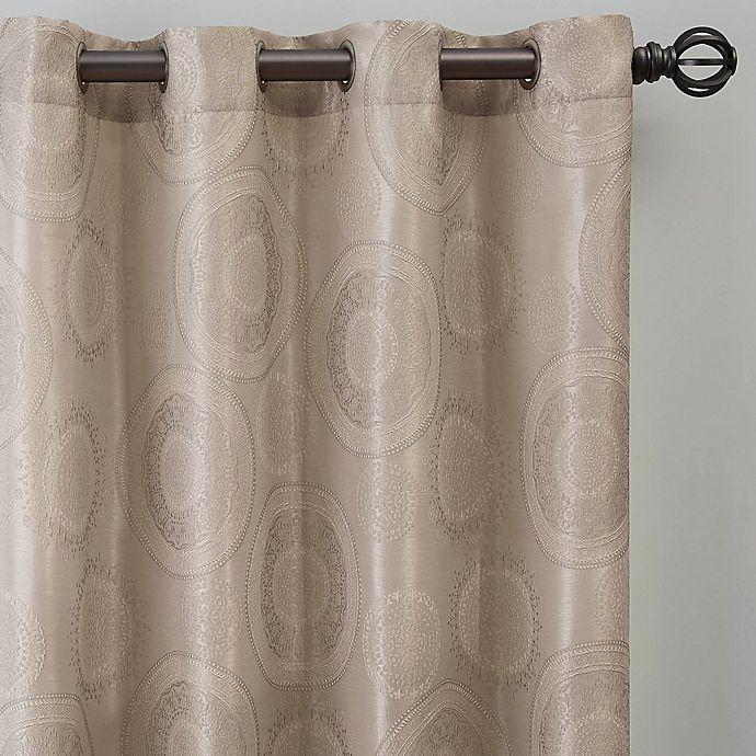 Alternate image 1 for Medallion 84-Inch Grommet Window Curtain Panel in Linen