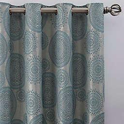 Medallion Grommet Window Curtain Panel (Single)