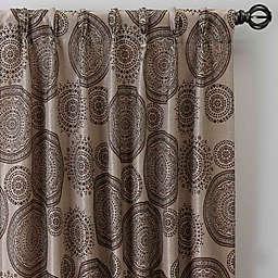 Medallion 84-Inch Pinch Pleat Window Curtain Panel in Mocha (Single)